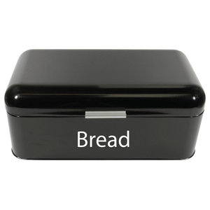 Chef Vida Curved Bread Bin, Black