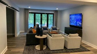 Basement Remodel with Media Room & Bar AV