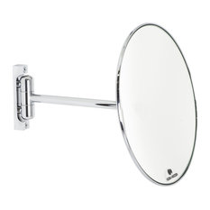 Wall-Mounted Swivel Arm Makeup Mirror, 3x Magnifier