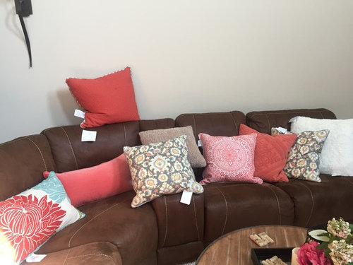 Pillow Placement For My Brown Sectional Couch