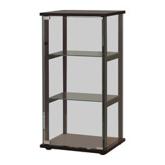 Coaster Home Furnishings   3 Shelf Contemporary Glass Curio Cabinet   China  Cabinets And Hutches