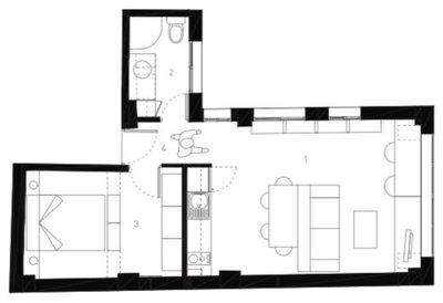Antes y después: De minipiso en ruinas a coqueto 'loft' para 2