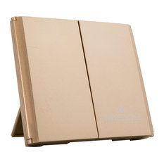 ReveaLight Trifold LED Compact Mirror with Flip Stand, Champagne Gold