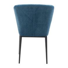 Tolivere Dining Chair Blue Velvet (Set Of 2)