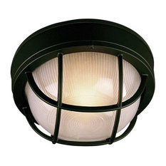 Craftmade Bulkhead 1-Light Large Flush Mount, Textured Matte Black