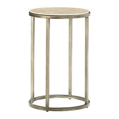 Modern Basics Round End Table by Hammary, Textured Bronze