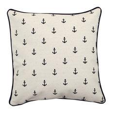 "Pillowcase Navy Anchors 12""x12"""