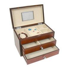 Proman Products Bellissimo Genoa Jewelry Box in Cherry