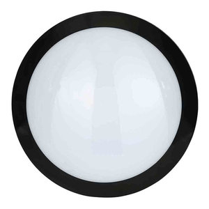 Stanley Como IP66 Outdoor LED Wall Light With Sensor, Black