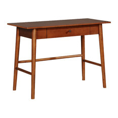 Linon Home Decor Products - Wood and Veneer Desk, Walnut - Desks and Hutches