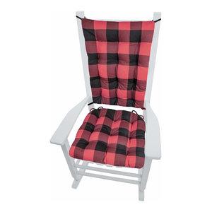 Black Plaid Gingham Indoor Foam Seat Cushion w// Ties Choose Size /& Foam