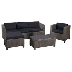Fresh Tropical Outdoor Lounge Sets by GDFStudio