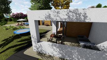 Дом на берегу моря с бассейном