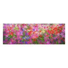"Petunia Panorama, Fine Art, 60""x20"""