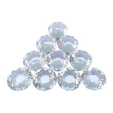 "Renovator's Supply - Clear Glass Cabinet Knobs 1.18"" Diameter Mushroom 10 Pcs - Cabinet and Drawer Knobs"