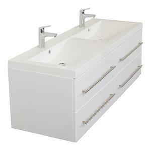 Emotion Persepolis Bathroom Furniture, 144 cm, White High-Gloss