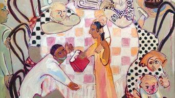 "Joyce Garner ""gift"" 46 x 48"" oil"
