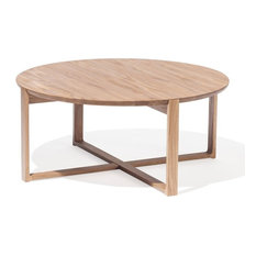 Wide Delta Natural Solid Oak Coffee Tables By Kai Stania For TON   Coffee  Tables