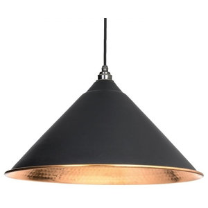 From The Anvil Hockley Pendant, Black Hammered Copper