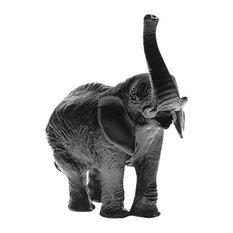 Daum Crystal Elephant Black