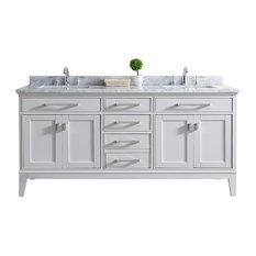 Danny 72-inch Double Sink Bathroom Vanity Set White