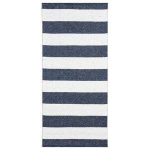 Chunky Stripe Woven Vinyl Floor Cloth, Blue, 70x200 cm