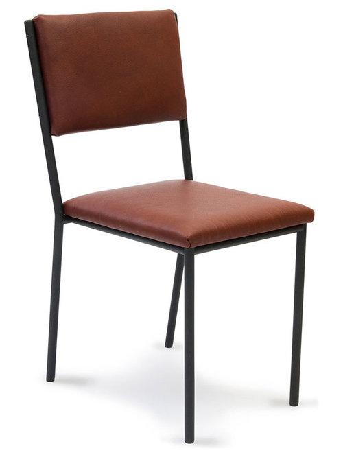 Lots Stol Läder, Svart/Brun - Spisebordsstole