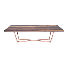 Dining Table, Walnut, Copper, 10'