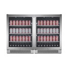 """Avallon ABR241SGDUAL 304 Can Beverage Cooler, Stainless Steel, 48"""""""