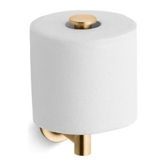 Kohler Purist Vertical Toilet Tissue Holder, Vibrant Moderne Brushed Gold