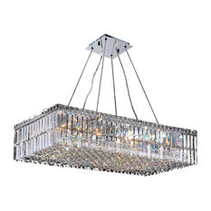 Long chandeliers houzz crystal lighting palace contemporary 16 light chrome finish crystal large chandelier 32 long rectangle aloadofball Choice Image