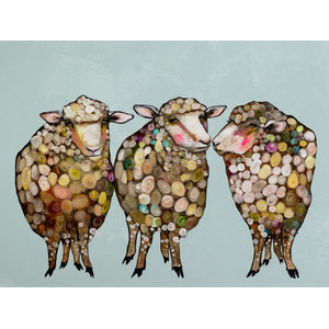 Trio Of Goats Stretched Canvas Art By Eli Halpin Contemporary Prints And Posters By Greenbox Art Culture