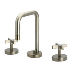Whitehaus WH83214-C Widespread Cross Handle Bathroom Faucet In Polished Chrome