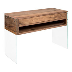 Cloud Console Table With Drawer, Walnut