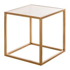 Mesas doradas de estilo retro