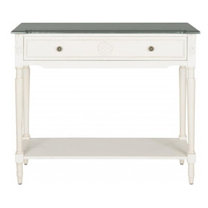 Safavieh Jenel White Console Table With Storage Drawer by Safavieh  sc 1 st  Furniture Ideas & Safavieh Jenel White Console Table With Storage Drawer by Safavieh ...