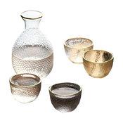 Set Of Sake Bottle And Cups Tea Beer Liquid Sake Cups A
