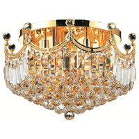 Corona 9-Light Gold Flush Mount Clear Royal Cut Crystal