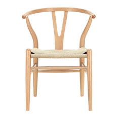 Modway Imports   Modway EEI 552 NAT Amish Wood Armchair In Natural   Dining