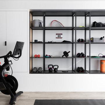 Built-In Basement Lounge