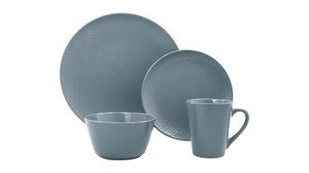 Veneto 16-Piece Dinnerware Set, Dusty Blueberry