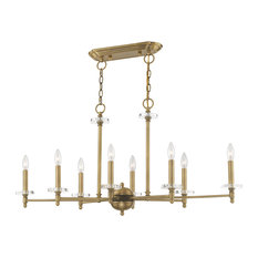 Livex Lighting Antique Brass 8-Light Linear Chandelier