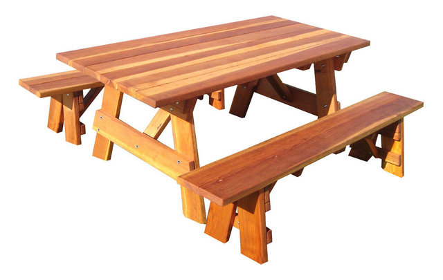 Square Corner Picnic Table, Light Super Deck, 30.5x33x96