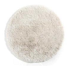 Tappeto shaggy rotondo color bianco 100 cm UGO