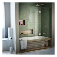 Tile Showers With Glass Doors. DreamLine  Glass Frameless Hinged Tub Door Clear and Brushed Nickel Shower Doors Tile Houzz