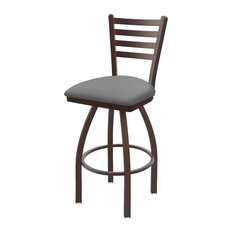 410 Jackie 30-inch Swivel Bar Stool With Canter Folkstone Gray Seat