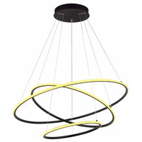 Modern 3-Ring Led Chandelier Dimmable Contemporary Ceiling Light Led Pendant