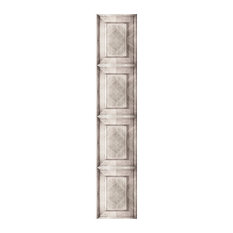 Dutch Inlay Panelling Wallpaper, Bleached