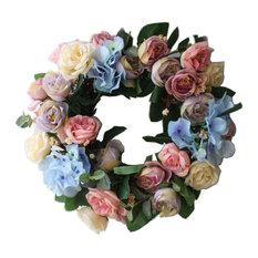 Multicolor Artificial Wreath Hanging Garland Door Wreath WeddingDecor