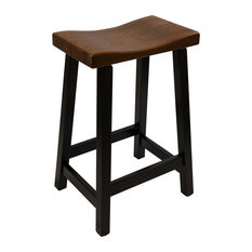 Urban Bar Stool With Maple Base And Elm Seat - 30-inch - Onyx&Michael's Cherry Stain